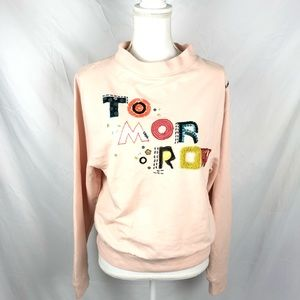 Anthropologie embellished sweatshirt size medium